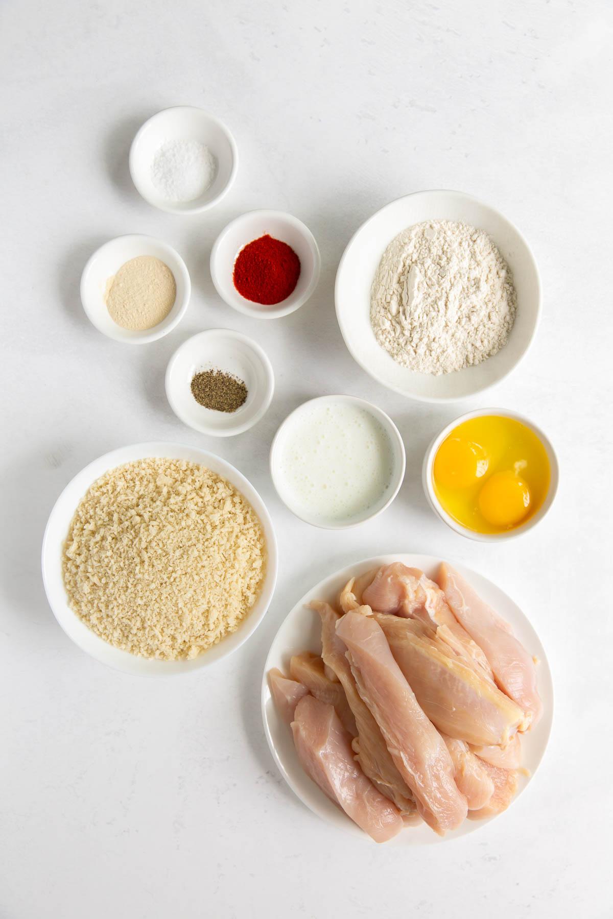ingredients for air fryer chicken tenders recipe