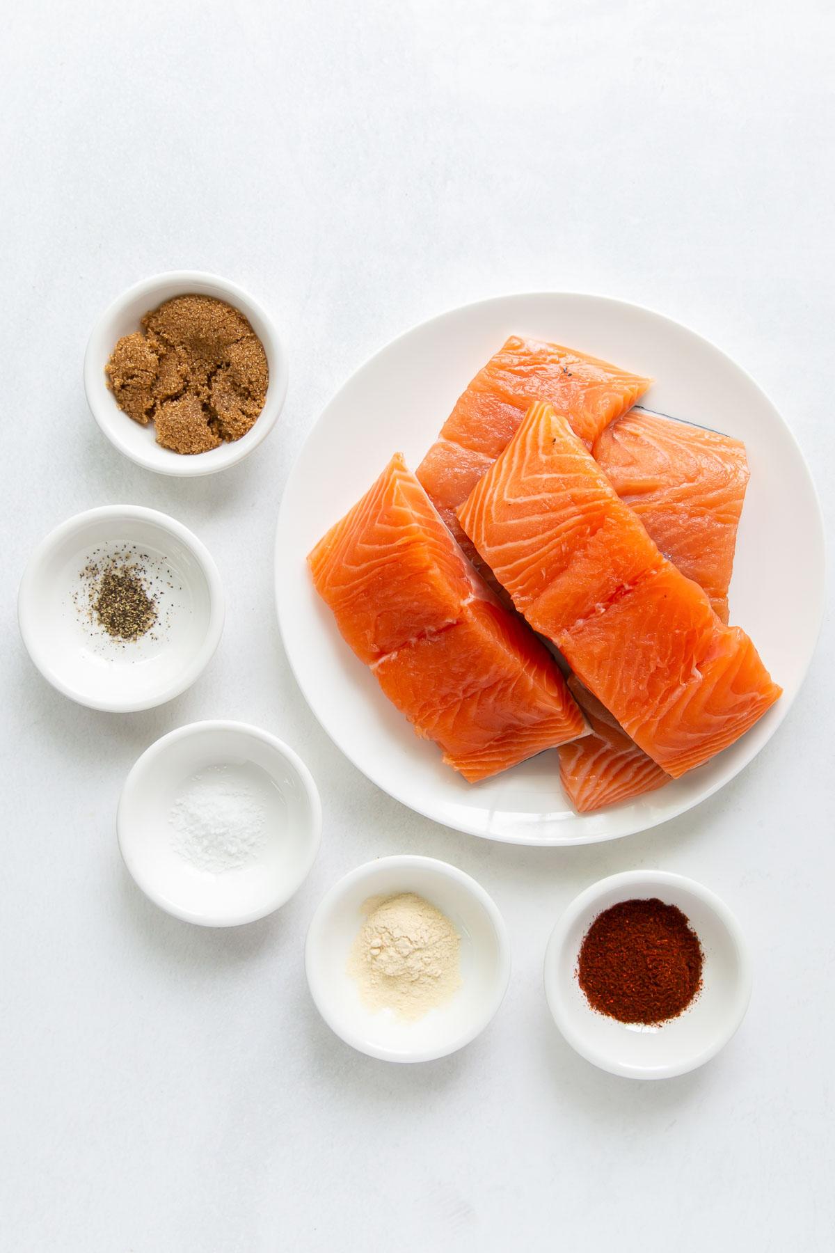 ingredients for air fryer salmon recipe