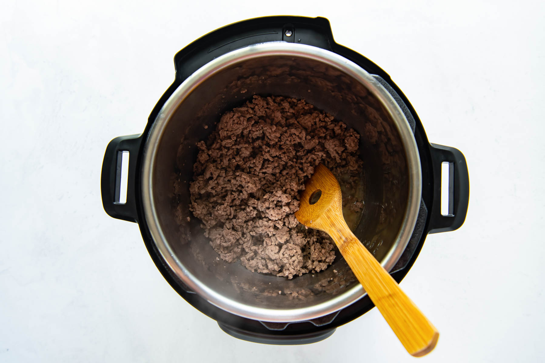 browning ground beef in instant pot