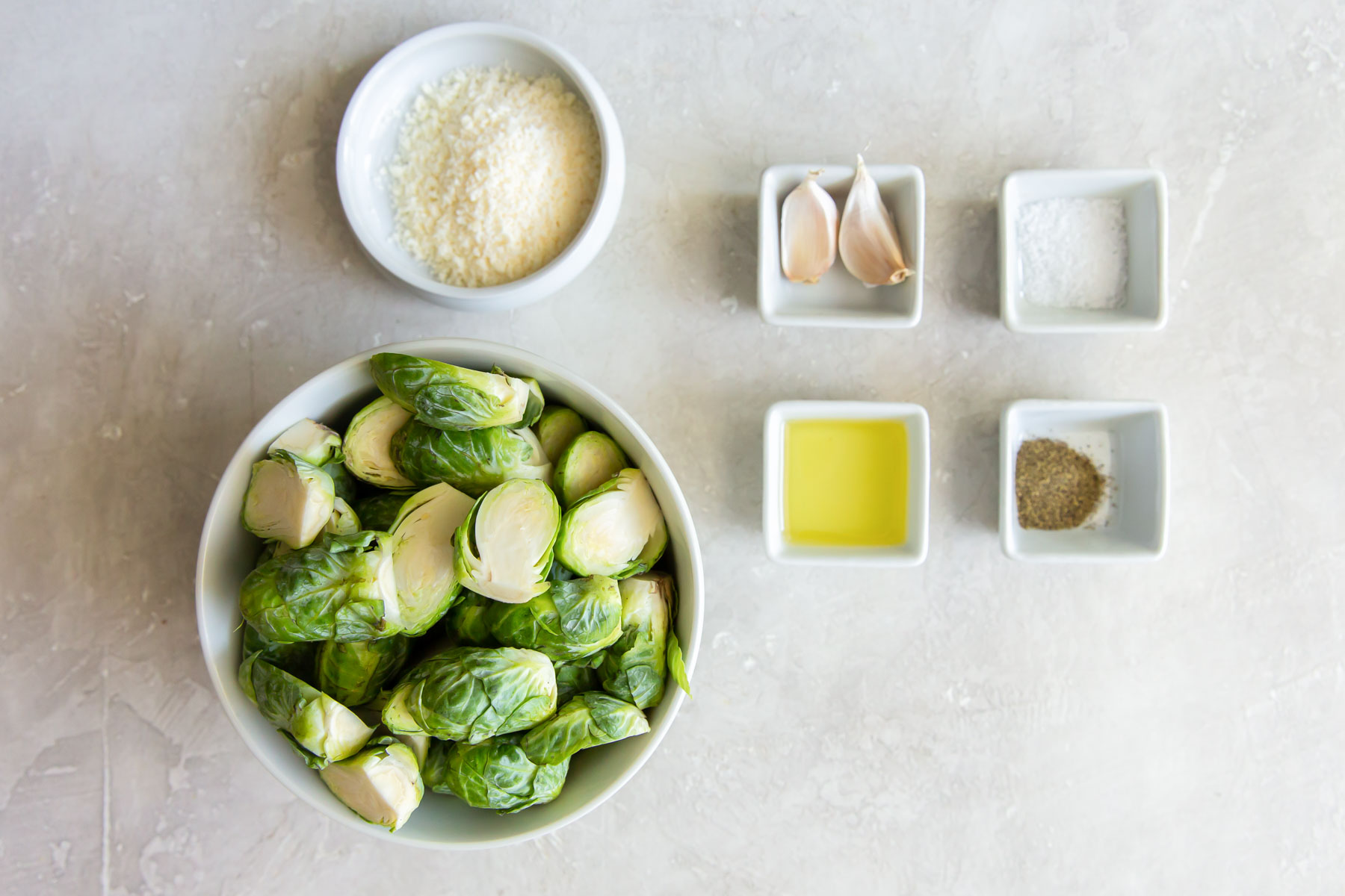 ingredients for air fryer brussels sprouts recipe