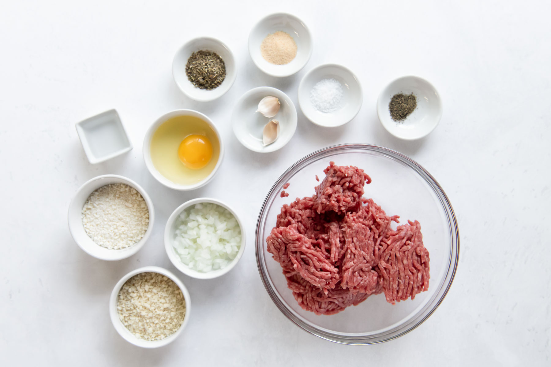 ingredients for meatball recipe