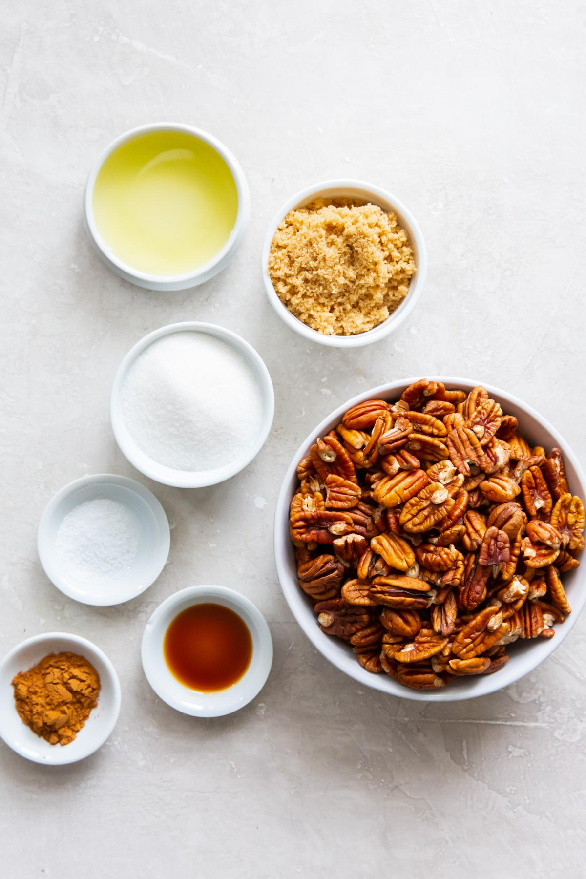 ingredients for candied pecans recipe