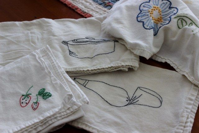 dish towels, handmade dish towels