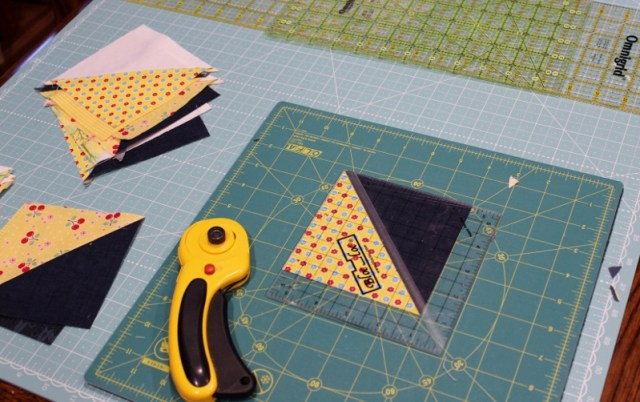trimming half square triangles
