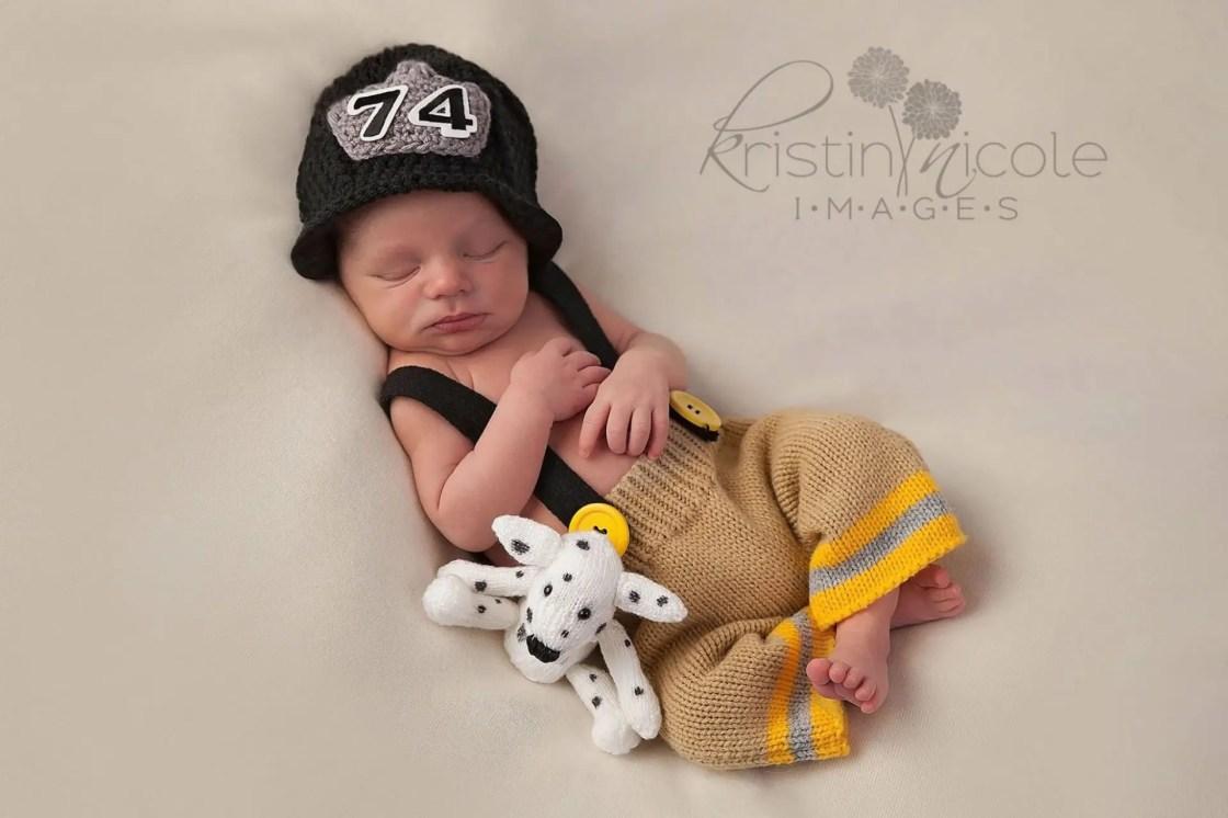Baby Fireman Photography   Salisbury MD