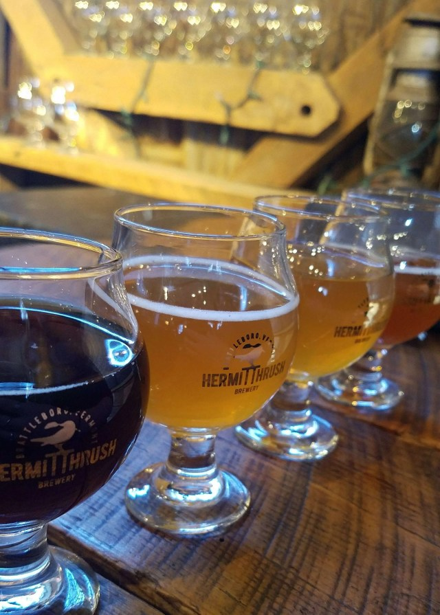 hermit thrush brewery beer flight