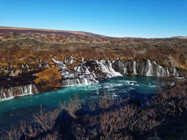 Hraunfossar, Barnafoss waterfall