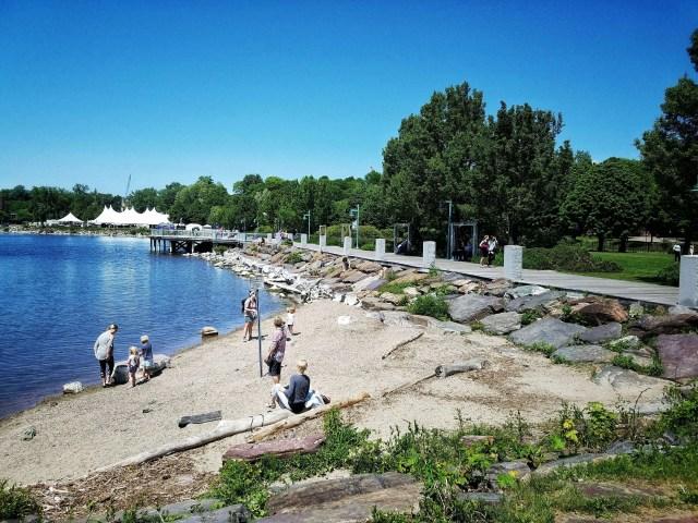 Burlington waterfront and bike path