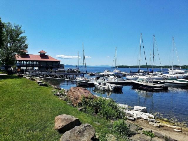 Burlington lakefront area