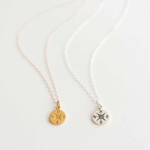 Raya Was Here Compass Necklace