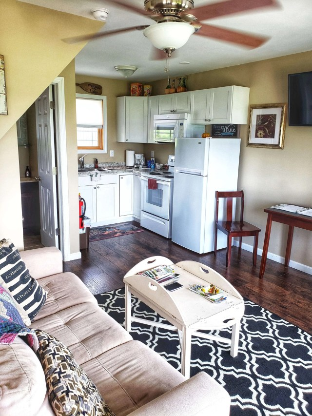 Living area at Vineyard Villas Seneca Lake