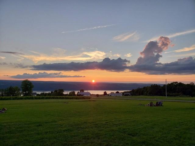 Sunset View of Seneca Lake