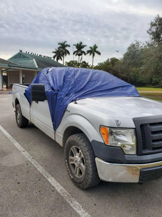 Tarped vehicles, Everglades National Park
