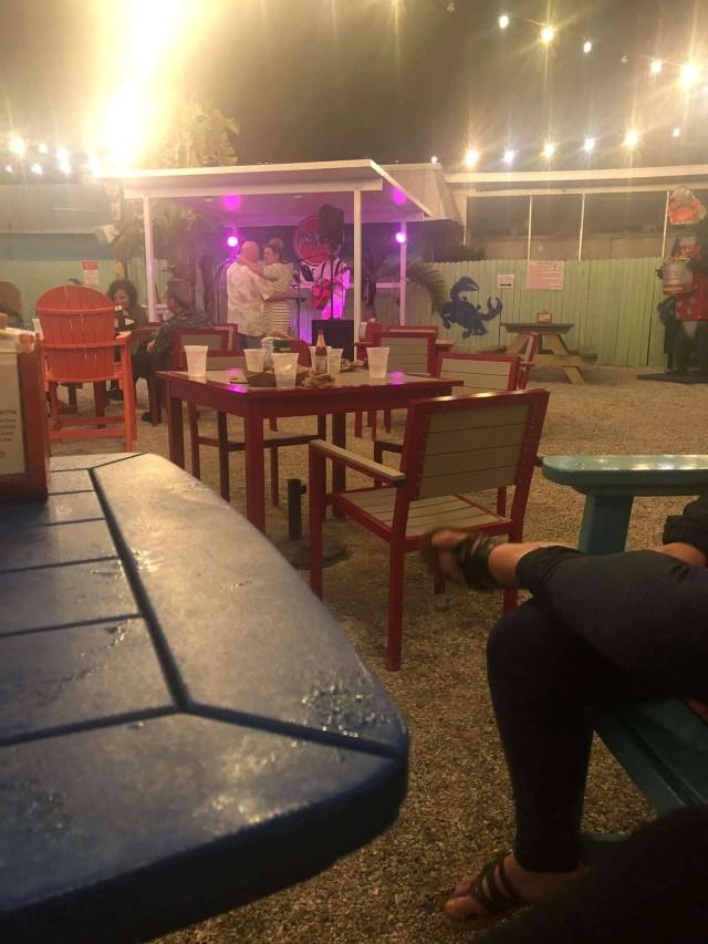 Live music at an outdoor bar, florida