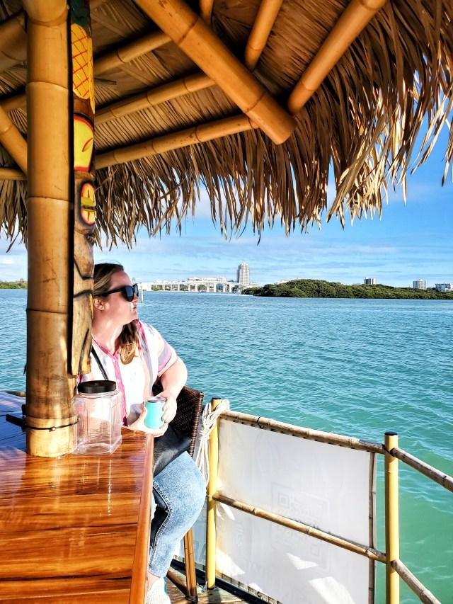 Floating tiki bar, clearwater, florida