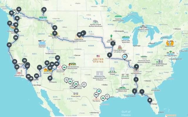 Roadtrippers road trip planning