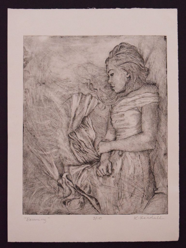 Copper plate etching, Kristin Kendall Fine Art
