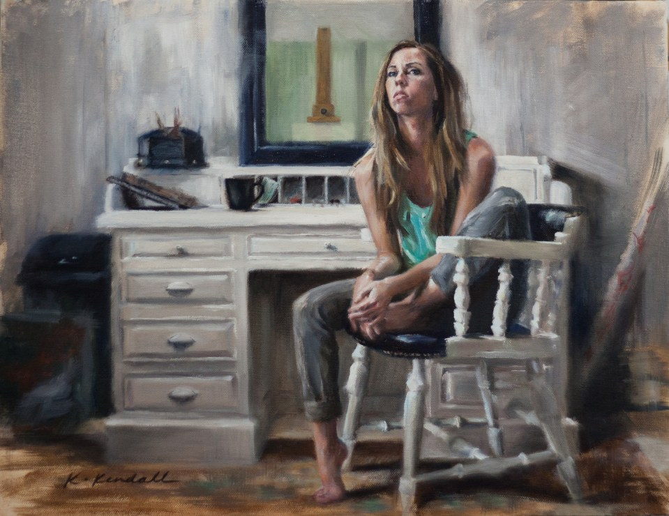 Oil Painting, Oil Portrait, Self Portrait, Kristin Kendall Fine Art