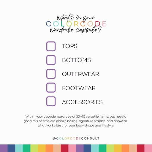 what's inside a color capsule wardrobe?