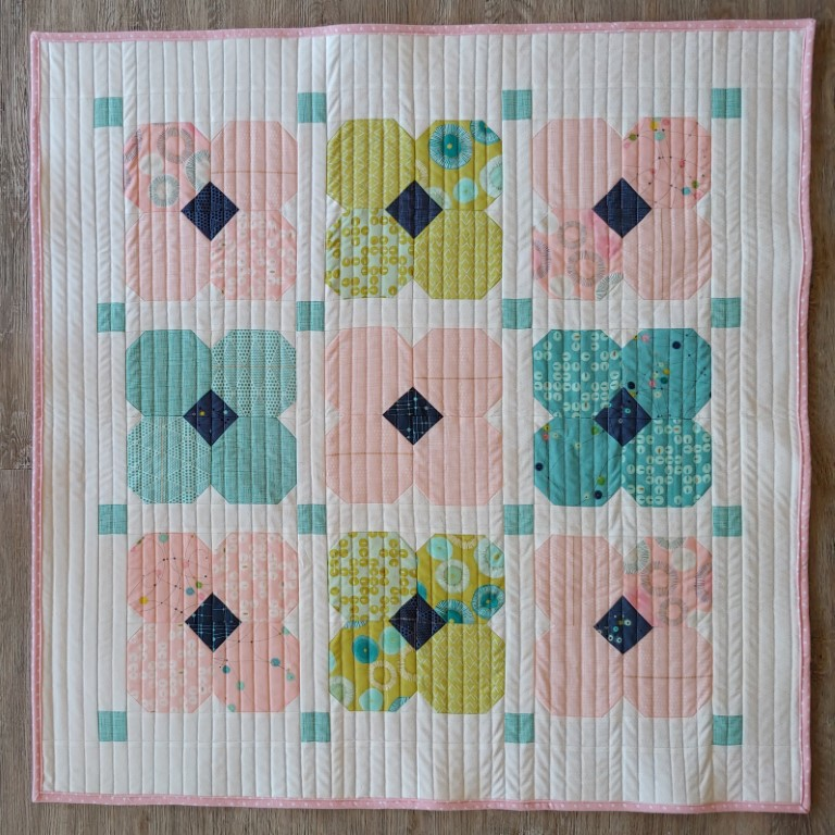 Baby quilt using Zen Chic fabric