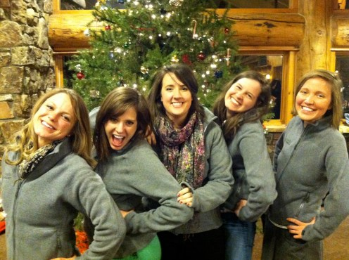 all the girls in our new staff jackets!