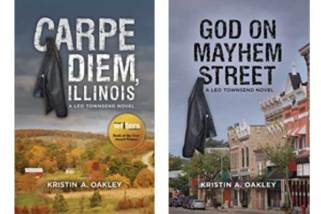 Carpe Diem, Illinois and God on Mayhem Street book covers