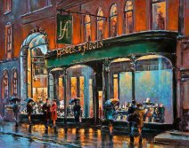 Painting of the exterior of Hodges & Figgis