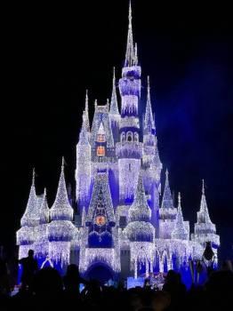 Cinderella's Castle lit up