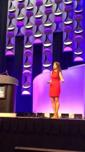 Kristin on stage at teh ACRP 2019 COnference