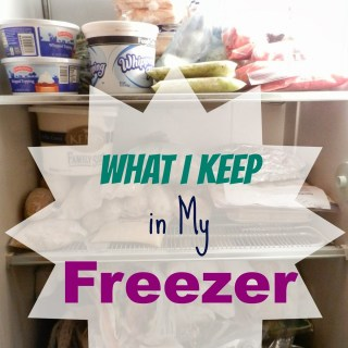 What I Keep in My Freezer