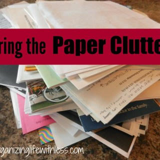 52 Places In 52 Weeks: Paper Clutter
