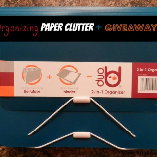 Organizing Paper Clutter + Giveaways!