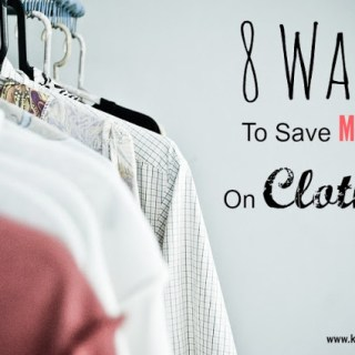 8 Ways To Save Money On Clothes