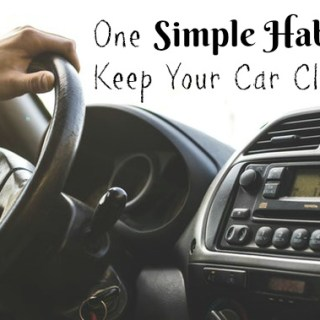 One Simple Habit To Keep Your Car Clean