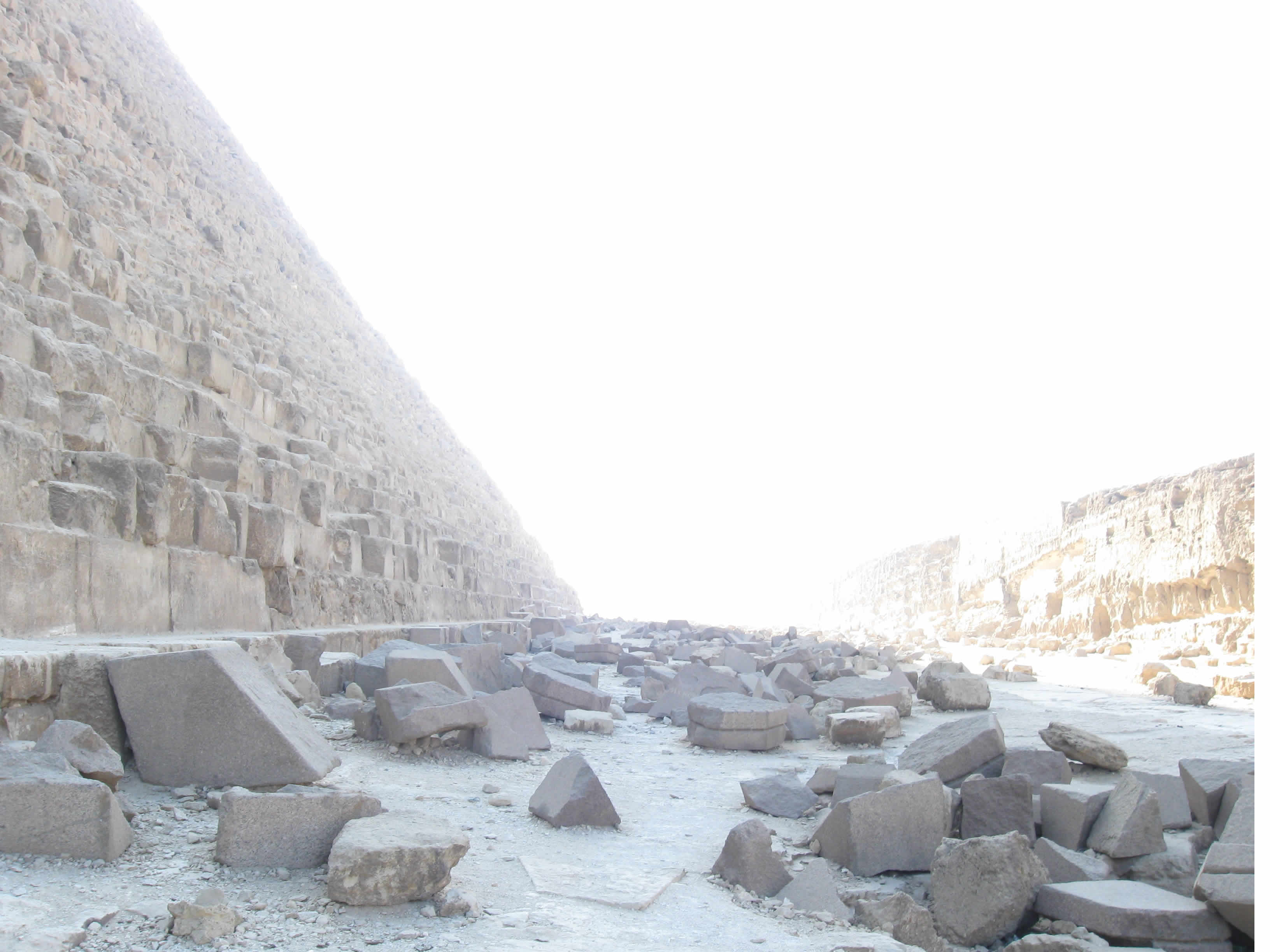 The Western Side of King Khafre's Pyramid
