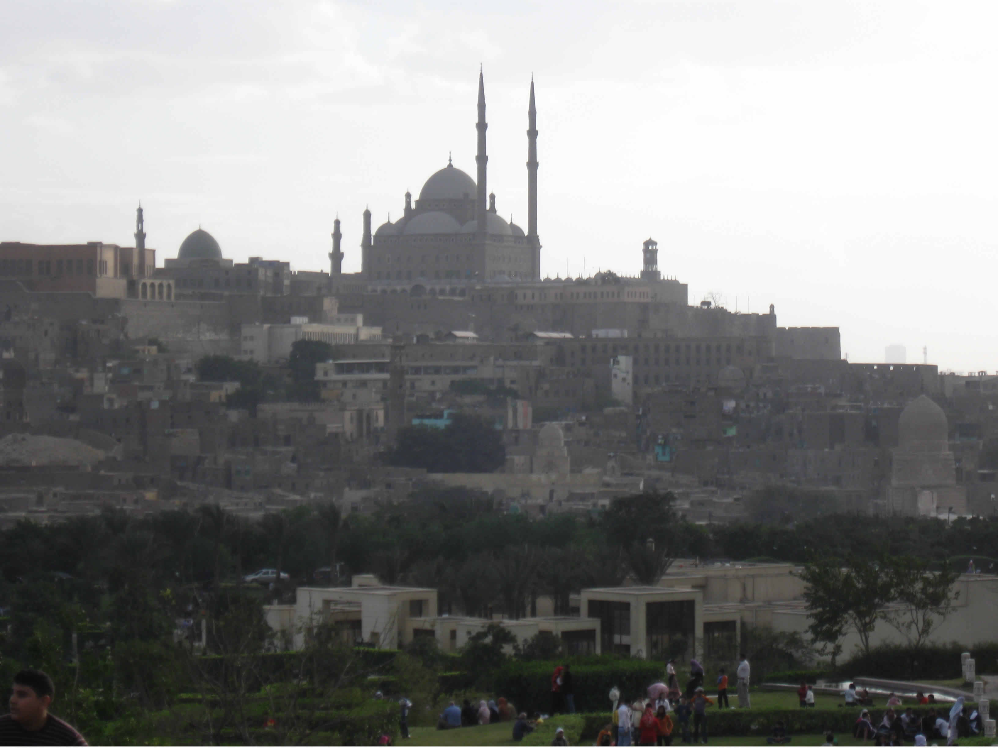The Citadel and Mohammed Ali Mosque from Al-Ahzar Park