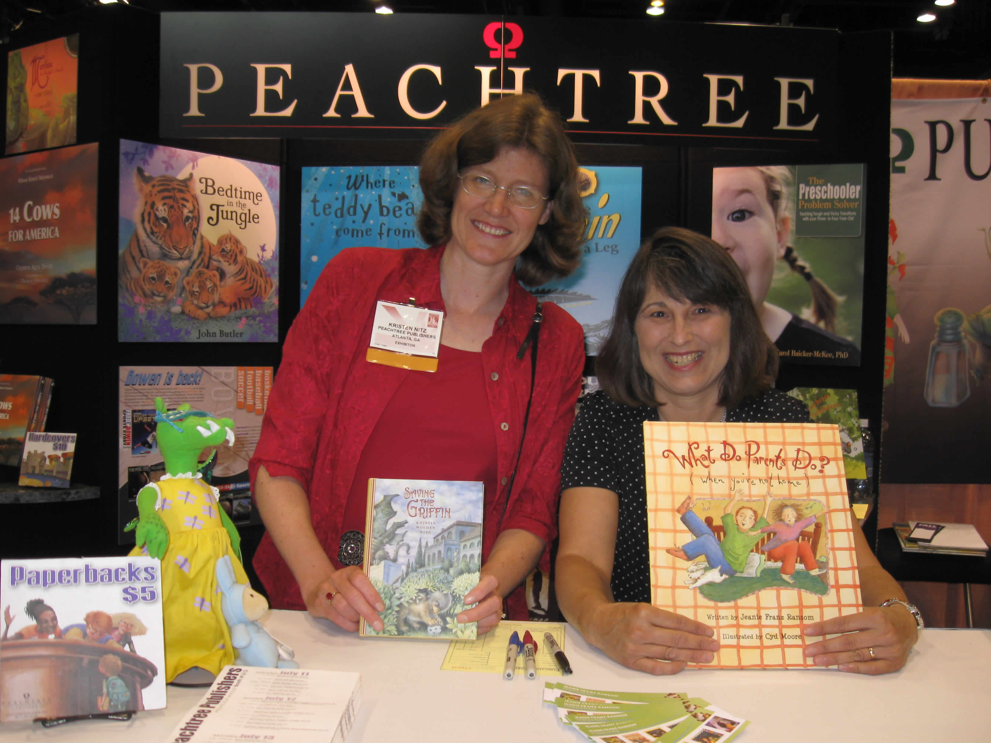 Showing off books with Jeanie Franz Ransom