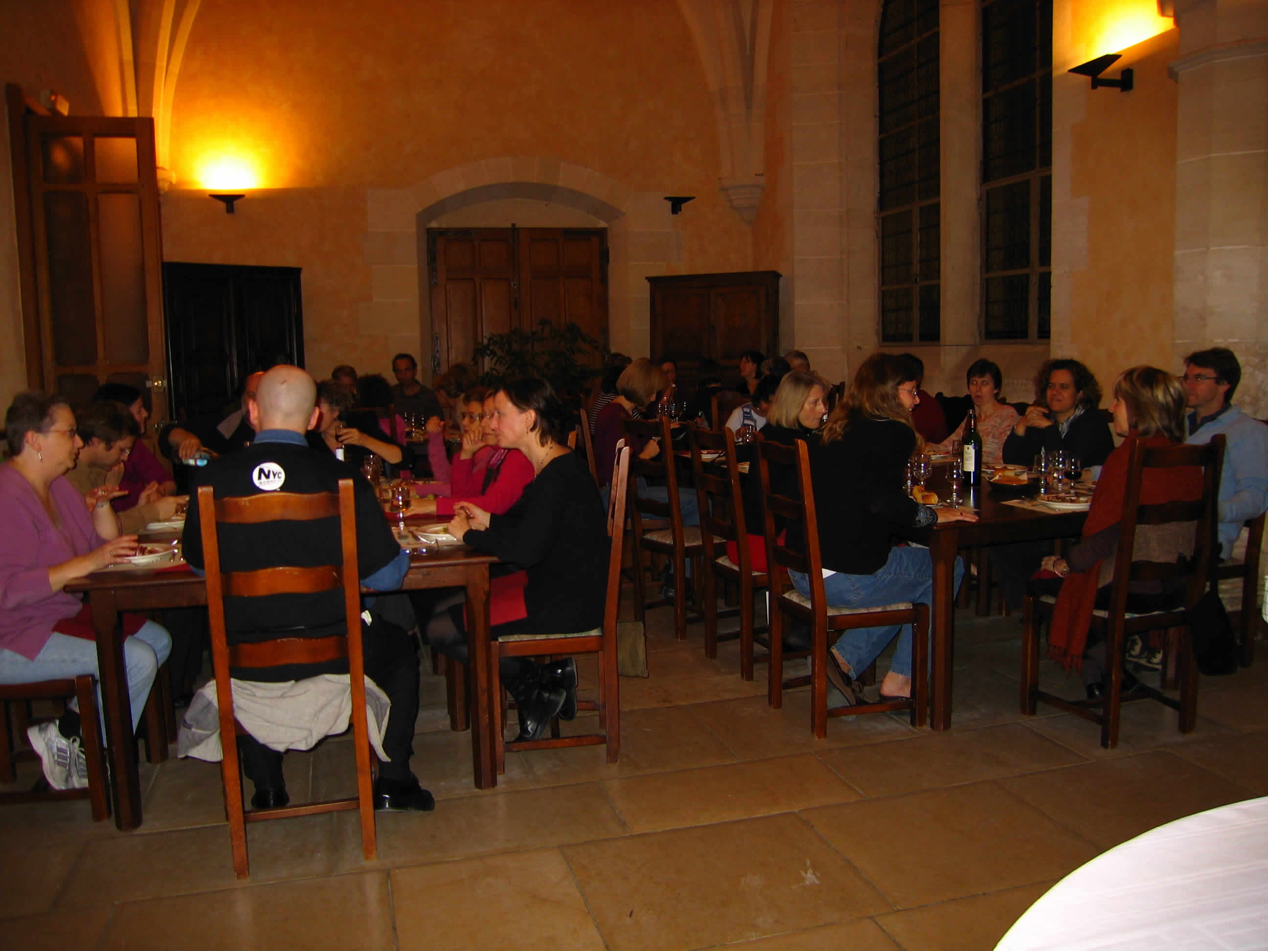 Dinner at Royaumont: The location provided atmosphere, but the people provided inspiration.