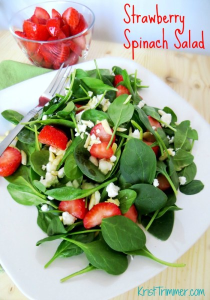 Organic Strawberry Spinach Salad