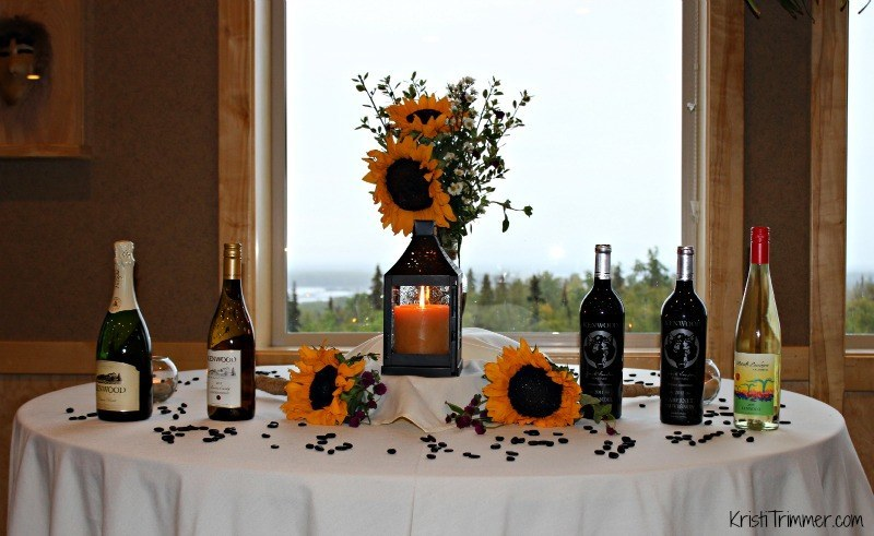 Talkeetna Lodge - Wine Setup