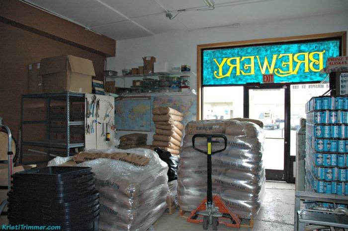 Kenai Rivers Brewery - Grain Room