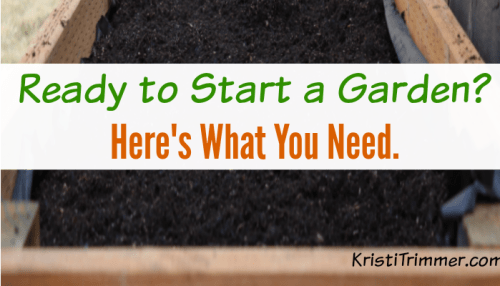 tips to starting a garden