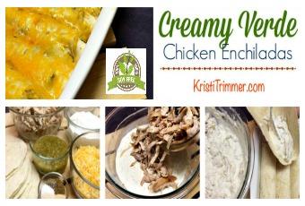 Soy Free Creamy Verde Chicken Enchiladas