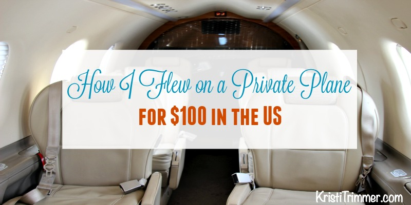 How I Flew on a Private Plane for $100 in the US #traveltips #traveling