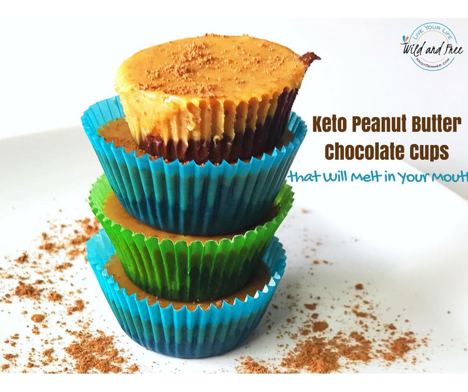 Sugar Free Keto Peanut Butter Chocolate Cups