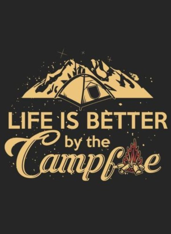 Life is better by the campfire 🙌 #camping #campfire #letgo #getoustide