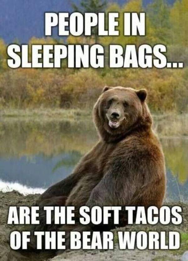 Yum! Tacos!! #bearawaare #bearsafety #camping #campinglife #memes