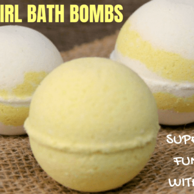 Lemon Swirl Bath Bombs – Super Simple & Fun to Make With the Girls