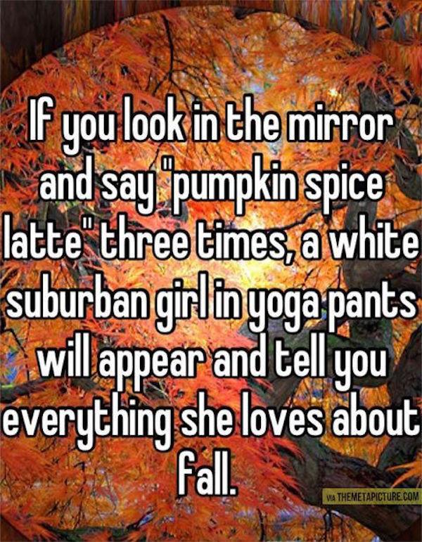 Pumpkin Spice Latte jokes. #autumn #fallmemes #psl #pumpkinspicelattes