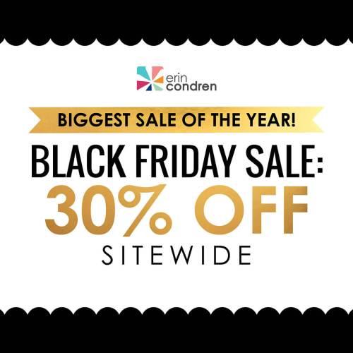 Erin Condren Black Friday Sale